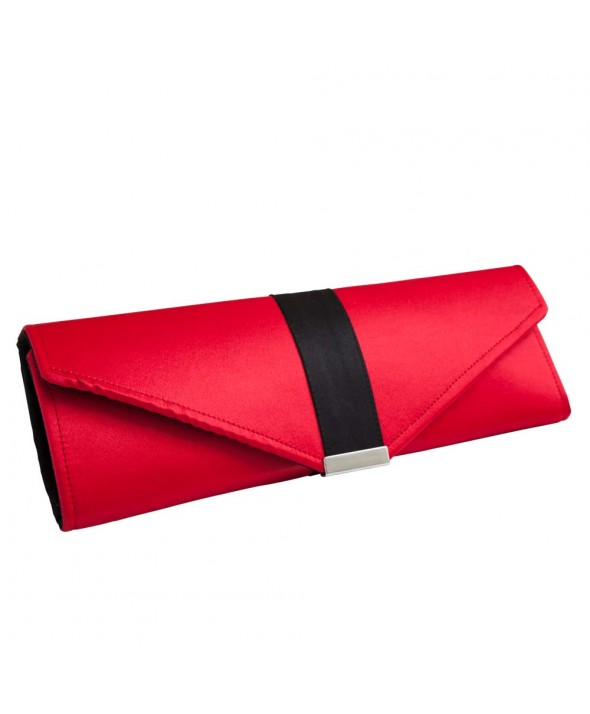 Red & Black Clutch Bag