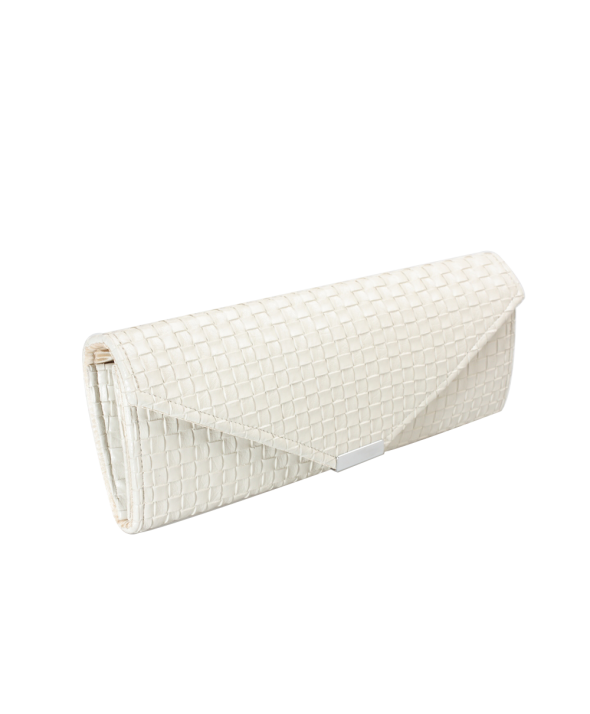 Cross Hatch Cream Clutch bag