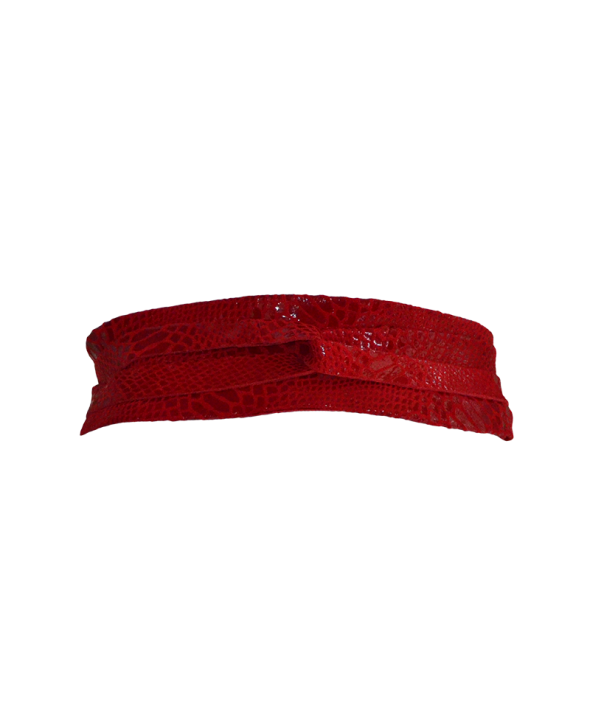 Gliss Red Wrap Belt