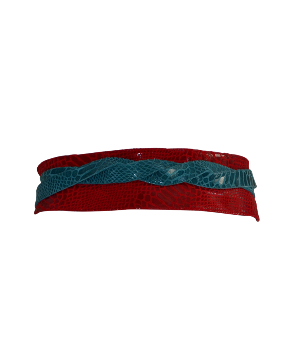 Gliss Turquoise/Red Wrap Belt
