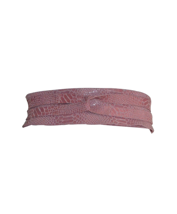 Gliss Pink Wrap Belt