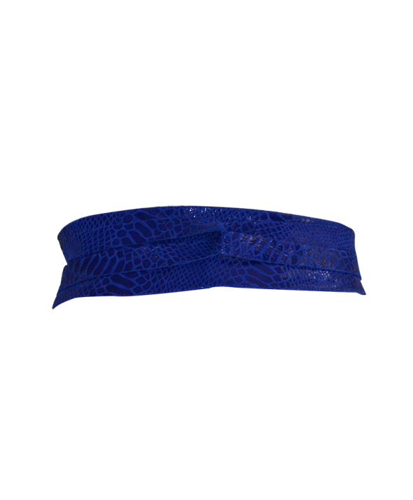 Gliss Royal Blue Wrap Belt