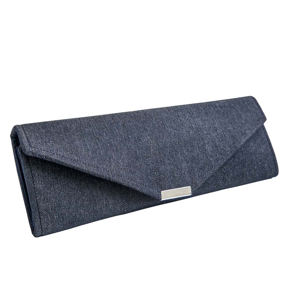 Copper Denim Clutch Bag